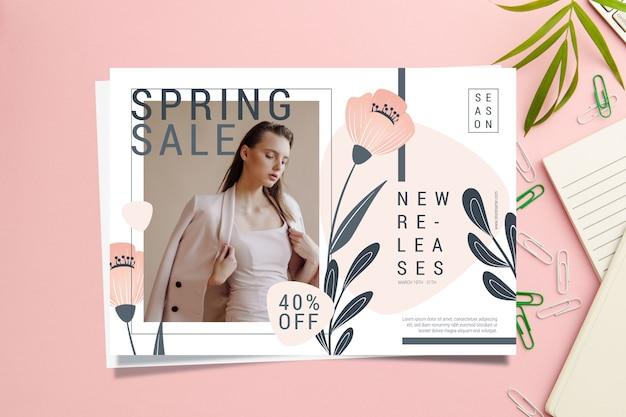 Szablon Transparent Sprzedaż Wiosna Darmowych Wektorów