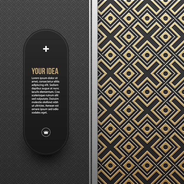 Szablon Transparent Www Na Złotym Tle Metalicznej Premium Wektorów