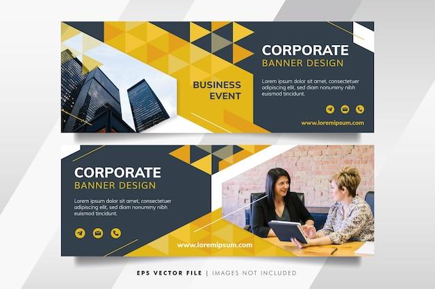 Szablon Transparent żółty Biznes Premium Wektorów