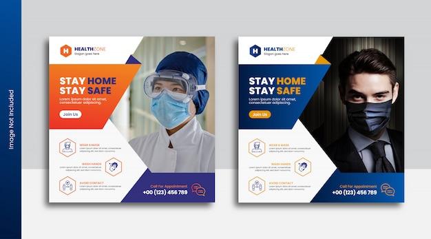 Szablon Transparentu Medycznego Covid 19 Coronavirus Premium Wektorów