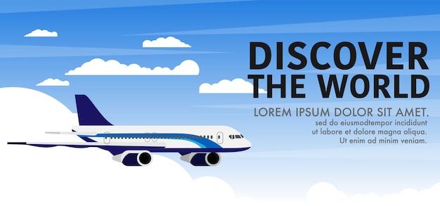 Szablon Transparentu Samolotu Premium Wektorów
