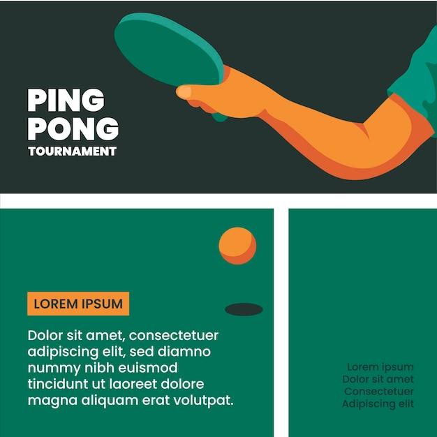 Szablon Turnieju Ping Ponga Darmowych Wektorów