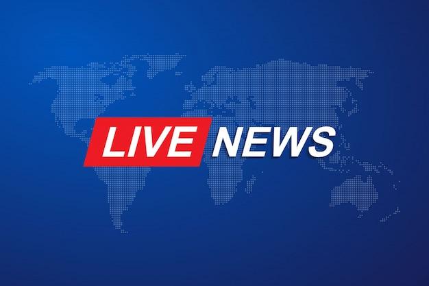 Szablon Tytułu Breaking News Premium Wektorów