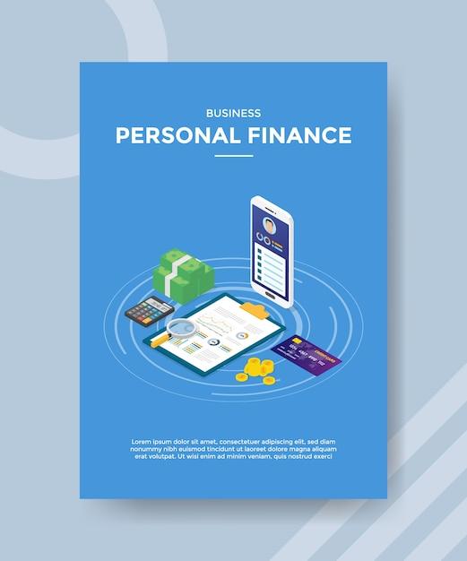 Szablon Ulotki Biznesowej Finansów Osobistych Darmowych Wektorów