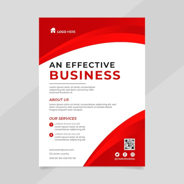 Szablon Ulotki Biznesowej Premium Wektorów