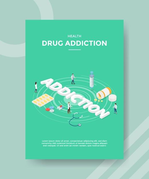 Szablon Ulotki Dla Osób Uzależnionych Od Narkotyków Darmowych Wektorów