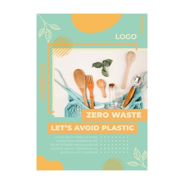 Szablon Ulotki Dla środowiska Zero Waste Premium Wektorów