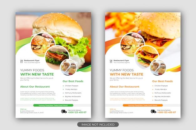 Szablon Ulotki Fast Food Premium Wektorów