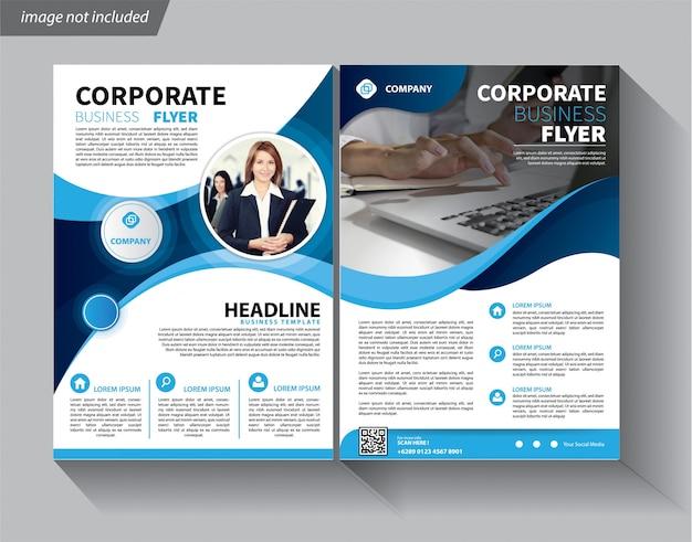 Szablon Ulotki Korporacyjnej Broszury Okładkowej Premium Wektorów