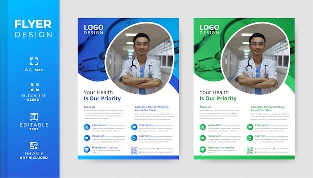 Szablon Ulotki Korporacyjnych Medycznych I Opieki Zdrowotnej Premium Wektorów