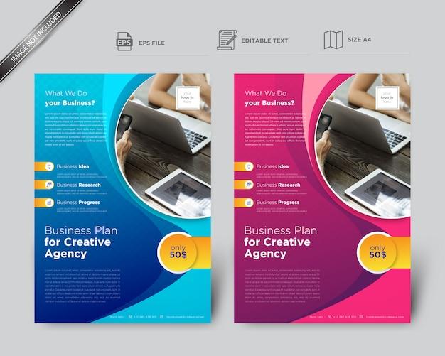 Szablon Ulotki Kreatywne Kształty Dla Firm Premium Wektorów