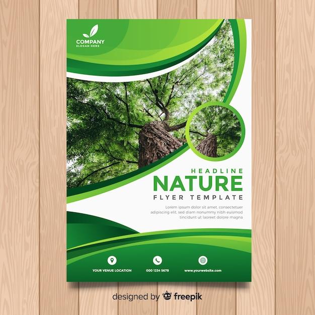 Szablon Ulotki Natura Darmowych Wektorów