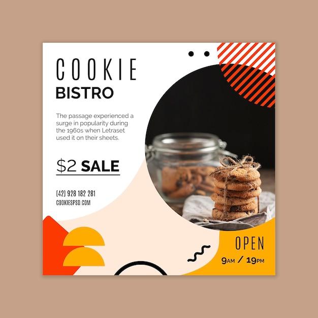 Szablon Ulotki Plików Cookie Premium Wektorów