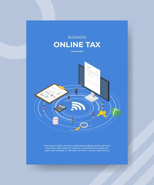 Szablon Ulotki Podatkowej Firmy Online Darmowych Wektorów