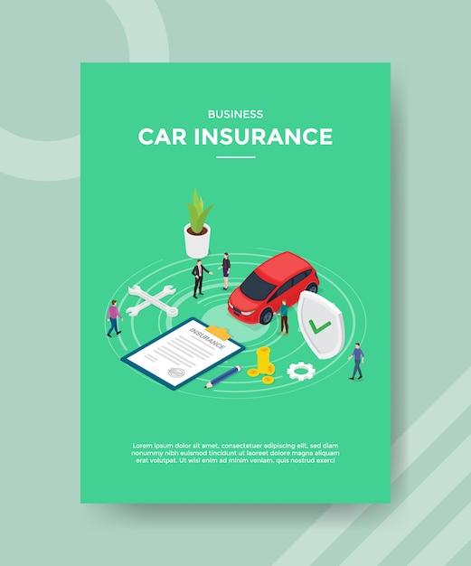 Szablon Ulotki Ubezpieczenia Samochodu Biznesowego Darmowych Wektorów