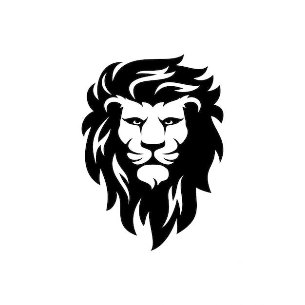 Szablon wektor logo lwa Premium Wektorów