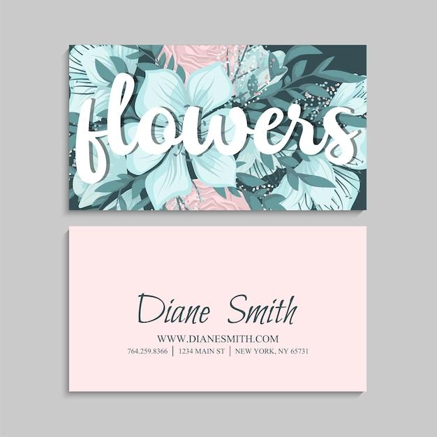 Szablon Wizytówki Kwiat Darmowych Wektorów