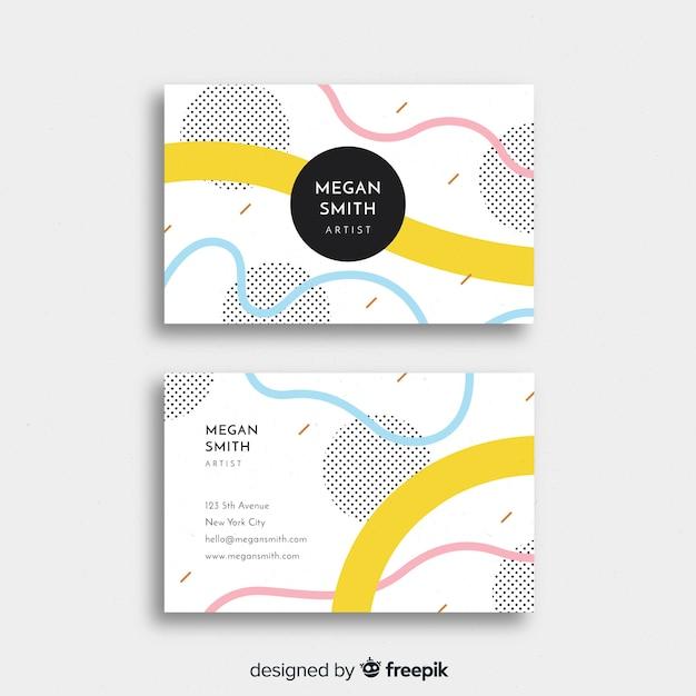 Szablon wizytówki z abstrakcyjnych kształtów Darmowych Wektorów
