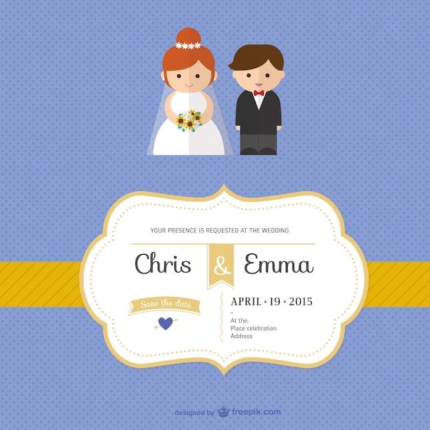 Szablon Zaproszenia ślubne Wektor Darmowe Pobieranie