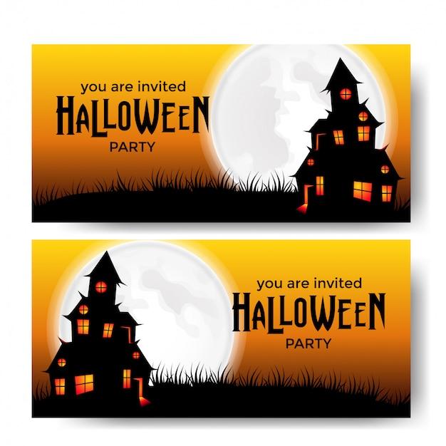 Szablon Zaproszenia Halloween Party Wektor Premium Pobieranie