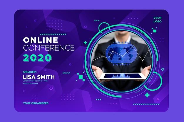 Szablon Zaproszenia Na Seminarium Internetowe Darmowych Wektorów
