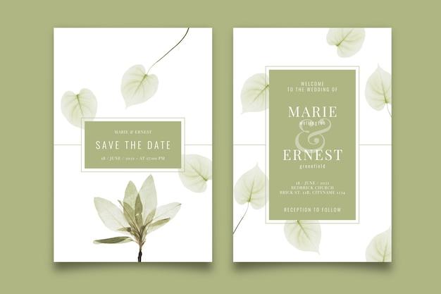 Szablon Zaproszenia ślubne Z Dużym Kwiatem Darmowych Wektorów
