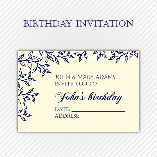 Zaproszenie Na Urodziny Szablony