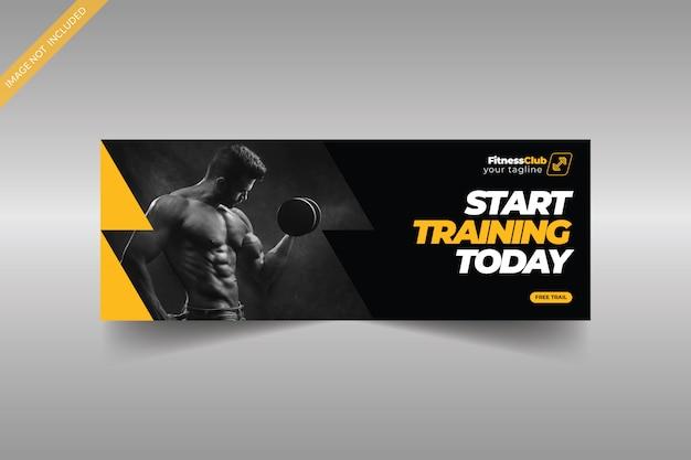 Szablon Zdjęcia Na Okładce Fitness Na Facebooku Premium Wektorów
