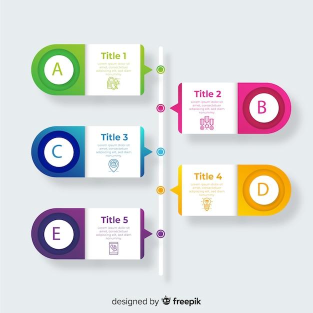 Szablony Infographic Proces Gradientu Darmowych Wektorów