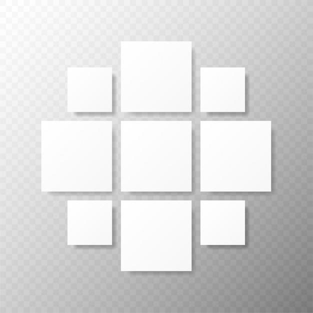 Szablony Kolaż Ramki Do Zdjęć Lub Ilustracji Montaż Szablonu Ramki Do Zdjęć Premium Wektorów