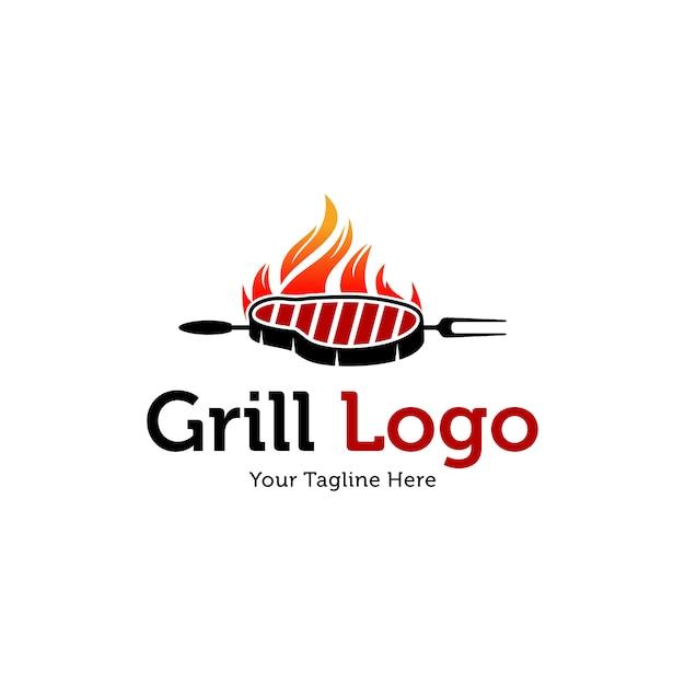 Szablony Logo Hot Grill Premium Wektorów
