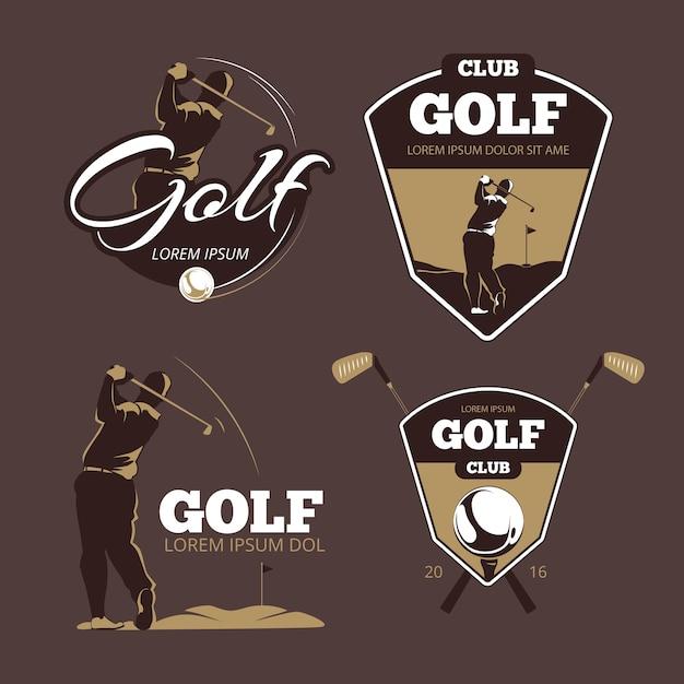 Szablony Logo Wektor Klub Golfowy Country. Sport Z Etykietą Piłkę, Ikona Ilustracja Gry Darmowych Wektorów