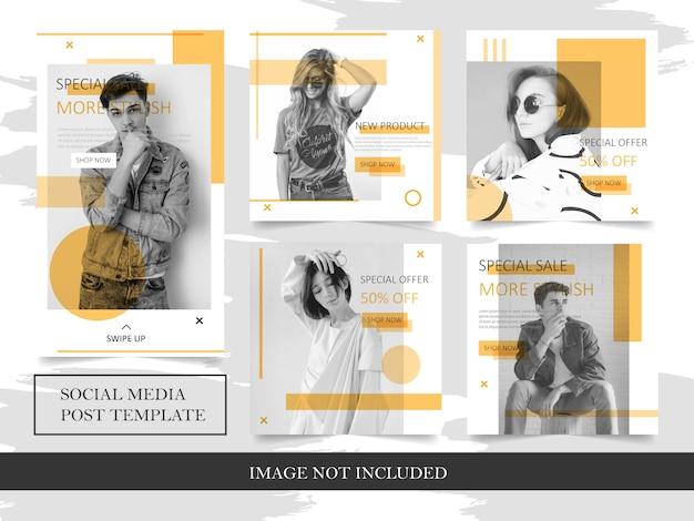 Szablony moda baner do postu w mediach społecznościowych Premium Wektorów