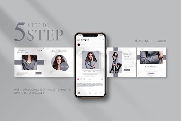 Szablony Postów W Mediach Społecznościowych Dotyczące Sprzedaży Mody Premium Wektorów