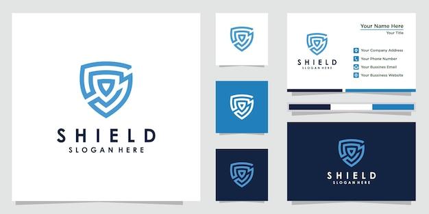 Szablony Projektów Logo Creative Tarcza. Projekt Logo I Wizytówki. Premia Premium Wektorów