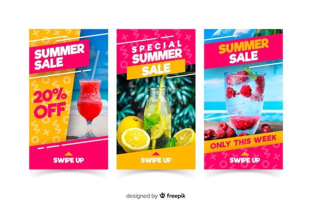 Szablony sprzedaży artykułów instagram letnich Darmowych Wektorów