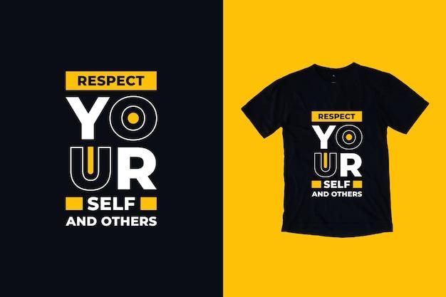 Szanuj Siebie I Innych Cytuje Projekt Koszulki Premium Wektorów