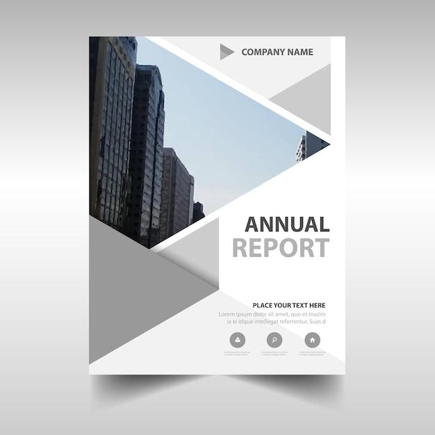 Szary kreatywny raport roczny szablonu książki Darmowych Wektorów