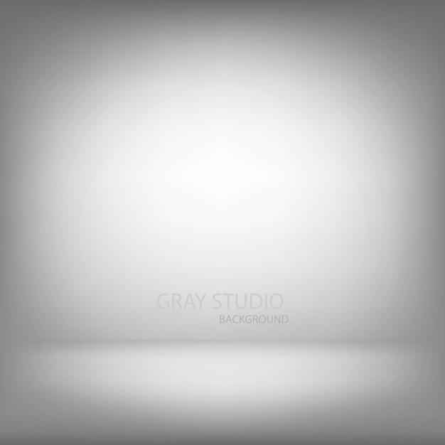 Szary studio gradientu ściany pokój, nowożytny wewnętrzny tło Premium Wektorów