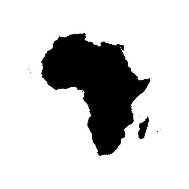Szczegółowa Mapa Afryki Premium Wektorów