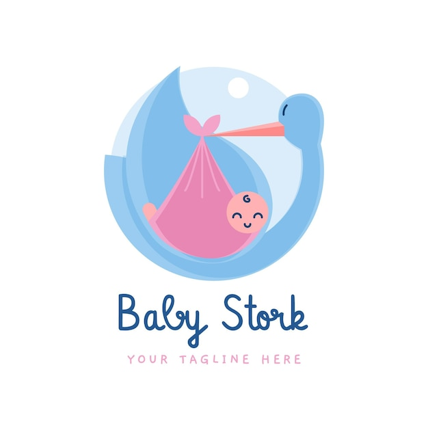 Szczegółowe Logo Cute Baby Premium Wektorów