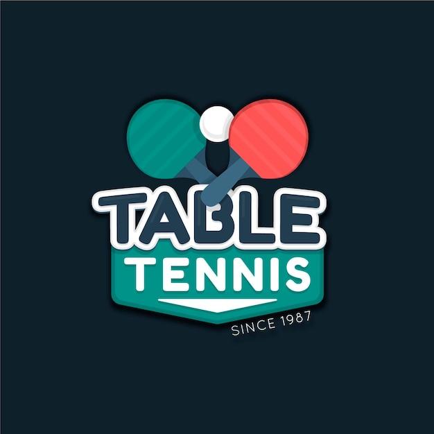 Szczegółowe Logo Do Tenisa Stołowego Darmowych Wektorów
