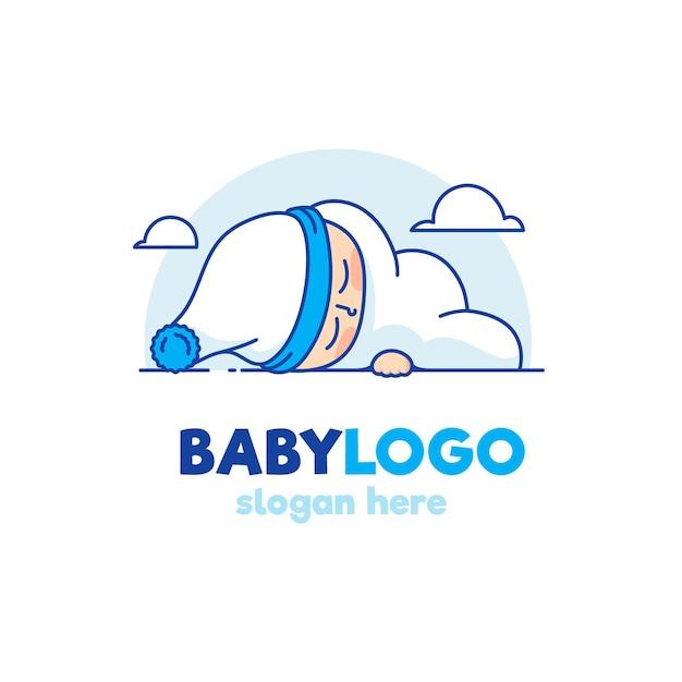 Szczegółowe Logo Dziecka Premium Wektorów