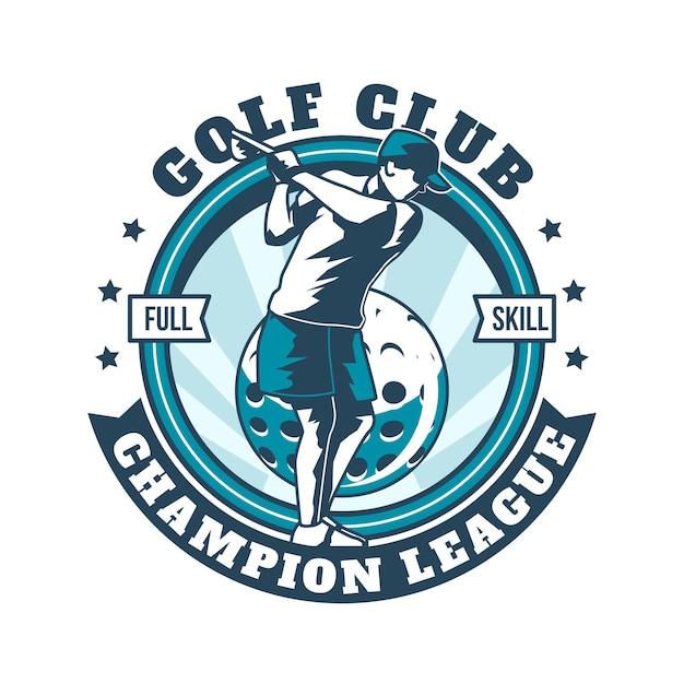Szczegółowe Logo Rocznika Golfa Szablon Darmowych Wektorów