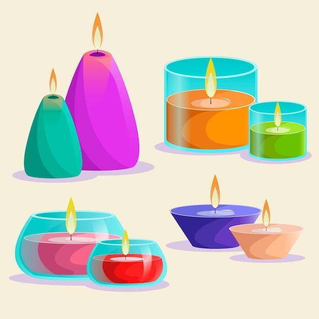 Szczegółowe Opakowanie świec Zapachowych Darmowych Wektorów