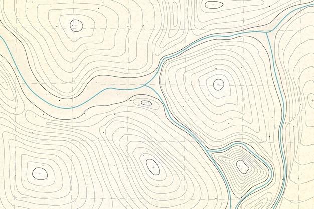 Szczegółowe Tło Mapy Topograficznej Darmowych Wektorów
