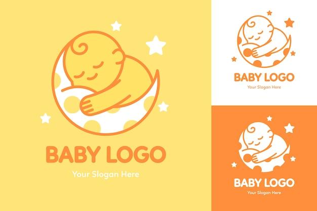 Szczegółowy Szablon Logo Dziecka Darmowych Wektorów