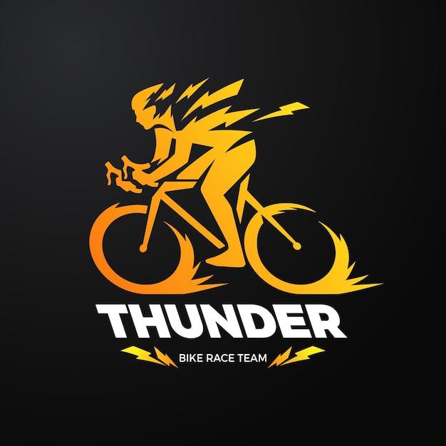 Szczegółowy Szablon Logo Roweru Darmowych Wektorów
