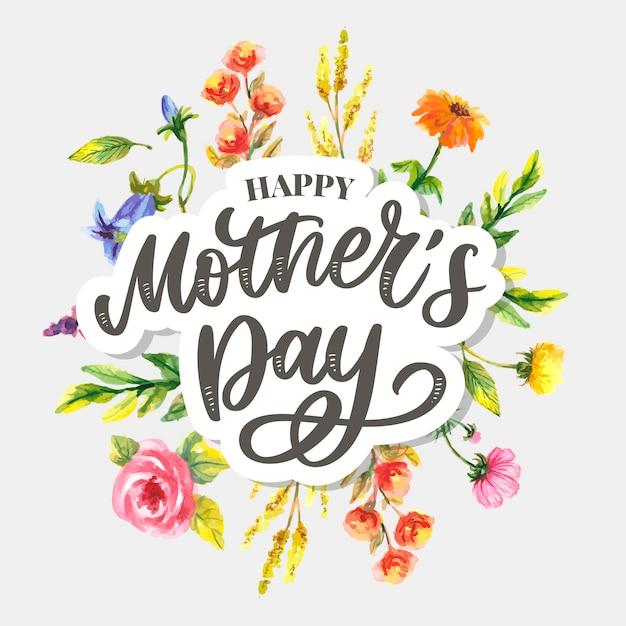Szczęśliwa Dzień Matki Ilustracja Premium Wektorów