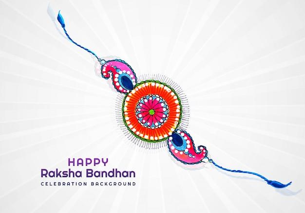 Szczęśliwa Karta Raksha Bandhan Do Dekoracyjnego Projektu Rakhi Darmowych Wektorów
